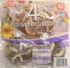 Sinnack 4 Kaiserbrötchen mit Mohn - Produkt