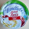 Milch Reis unterlegt mit Apfel - Product