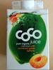 Coco juice pure organic coconut apricots - Produit
