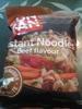 Instant noodles beef flavour - Nouilles instantanées saveur bœuf - Produit