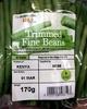 trimmed fine beans - Produit