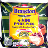 4 mini Pork Pies topped with Branston Pickle - Product