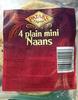 4 plain mini Naans - Produit