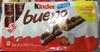 Kinder Bueno - Fines gaufrettes enrobées de chocolat au lait - Prodotto