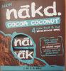 Cocoa Coconut Fruit & Nut Bars 4 x - Product