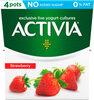 Strawberry No Added Sugar 0% Fat Yogurt 4 x (480g) - Product
