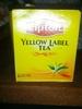 yellow label tea - Product