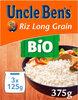 Riz long grain BIO Uncle Ben's 3 x 125g - Product