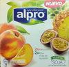 Yogurt a base de soja melocotón 2x piña-fruta de la pasión - Producto