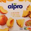 Yogurt a base de soja melocotón 2x piña-fruta de la pasión - Producte