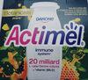 Mleko fermentowane z L. casei Danone oraz witaminami B6 i D. Actimel o smaku papaja-miód-mięta. - Produktas