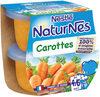 NESTLE NATURNES Petits Pots Bébé Carottes -2x130g -Dès 4/6 mois - Producto