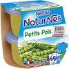 NESTLE NATURNES Petits Pots Bébé Petits Pois -2x130g -Dès 4/6 mois - Produit