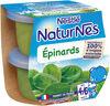 NESTLE NATURNES Petits Pots Bébé Epinards -2x130g -Dès 4/6 mois - Producto