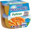 NESTLE NATURNES Petits Pots Bébé Potiron -2x130g -Dès 4/6 mois - Producto