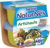 NESTLE NATURNES Petits Pots Bébé Artichauts -2x130g -Dès 4/6 mois - Prodotto