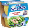 NESTLE NATURNES Petits Pots Bébé Petits Pois Jambon -2x200g -Dès 6 mois - Producto