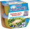 NESTLE NATURNES Petits Pots Bébé Haricots Verts Dindonneau -2x200g -Dès 6 mois - Produit