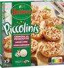 BUITONI PICCOLINIS mini-pizzas surgelées Cremosa Al Prosciutto - Lardons Crème 9x30g ( - Produit
