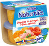 NESTLE NATURNES Petits Pots Bébé Légumes du Potager, Pâtes, Jambon -2x200g -Dès 12 mois - Product
