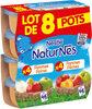 NESTLE NATURNES Compotes Bébé Pommes Poires + Pommes Pêches 8x130g - Product