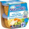 NESTLE NATURNES Les Sélections Petits Pots Bébé Petits Légumes, Coquillettes, Cabillaud -2x200g -Dès 8 mois - Produit