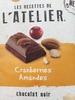 Chocolat noir extrafin avec des amandes entières et cranberries - Prodotto