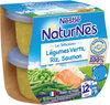 NESTLE NATURNES Les Sélections Petits Pots Bébé Légumes Verts, Riz, Saumon -2x200g -Dès 12 mois - Producto