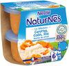 NESTLE NATURNES Les Sélections Petits Pots Bébé Carottes, Merlu blanc, Riz touche de citron -2x200g -Dès 6 mois - Produit
