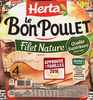 Le Bon Poulet Filet Nature (4 tranches) - Produit