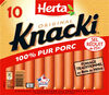 KNACKI Original saucisses pur porc -25% sel - Product