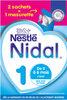 NESTLE NIDAL 1 Lait Infantile 1er âge 2x350g dès la Naissance - Produit