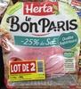 Le Bon Paris -25% de sel (lot de 2) - Produit