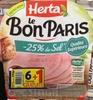 Le Bon Paris -25% de sel (6+1 gratuite) - Produit
