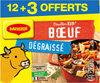 MAGGI Bouillon KUB Bœuf Dégraissé x12+3 cubes Offerts - Produit