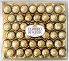 Ferrero rocher fines gaufrettes enrobees de chocolat au lait et noisettes avec noisette entiere t42 boite de 42 pieces - Produit