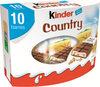 Kinder country barre de cereales enrobee de chocolat 10 barres - Product