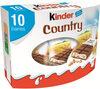Kinder country barre de cereales enrobee de chocolat 10 barres - Produit