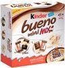 Kinder bueno mini fines gaufrettes enrobees de chocolat au lait fourrees lait et noisettes boite de 45 pieces - Prodotto