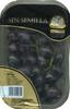 Uva negra sin semilla tarrina - Producto