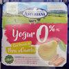 Yogur 0% con trozos de pera y canela - Producte