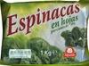 Espinacas en hojas - Produit