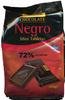 Mini tabletas de chocolate negro 72% cacao - Producte