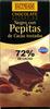 Chocolate negro 72% con pepitas de cacao - Producte