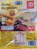 Nems au poulet, Avec sauce (x 4) - Product