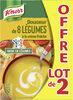 Knorr Les Classiques Soupe Liquide Douceur de 8 Légumes à la Crème Fraîche Lot 2x1L - Produit