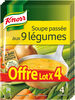 Knorr Soupe Passée aux 9 Légumes 105g 4 Portions Lot de 4 - Produit