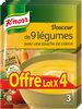 Knorr Soupe Douceur De 9 Légumes Touche De Crème lot de - Produit