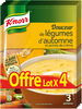 Knorr Douceur de légumes d'Automnes 83g lot de 4 - Produit