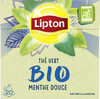 Lipton Thé Vert Bio Menthe Douce 20 Sachets - Product